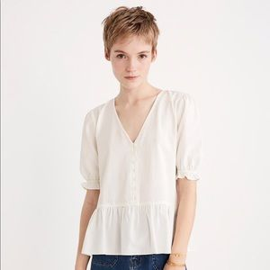 Courtyard Ruffle-Hem Top